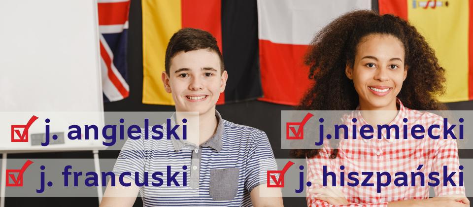 Uczymy j. angielskiego, j. niemieckiego, j francuskiego, j. hiszpańskiego